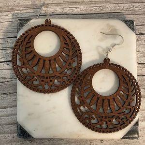 Ashera Wood Laser Cut Earrings